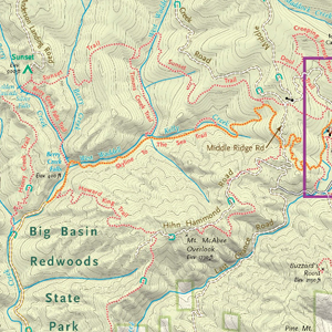 Trail Map- Big Basin