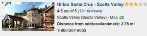 Hotel - Hilton Scotts Valley