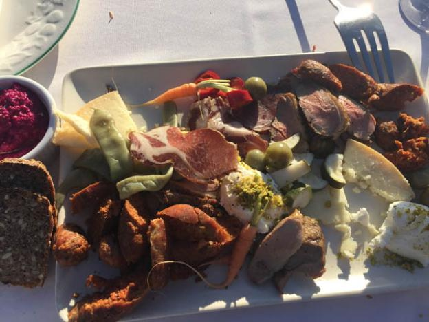 The first course included charcuterie from El Salchichero and sheep cheese from Garden Variety.