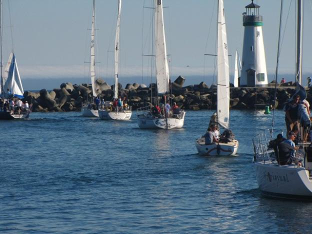 Heading out of the harbor on a Wednesday night O'Neill Yacht Charters cruise. Photo by Michael Roberts.
