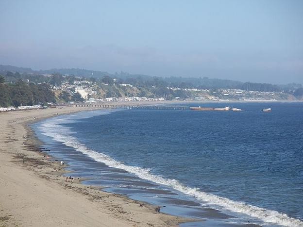 Seacliff State Beach had an almost perfect water quality record last year, according to the NRDC's 2014 Testing the Waters report. Eugene Zelenko photo.