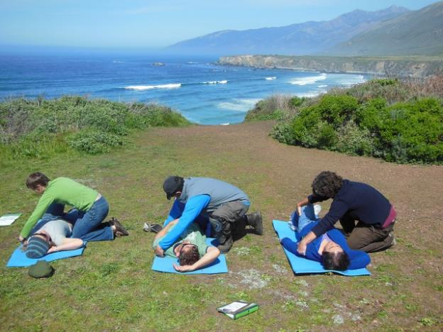 A Backcountry Medical Guides class above Sand Dollar Beach in Big Sur. Photo courtesy BMG.