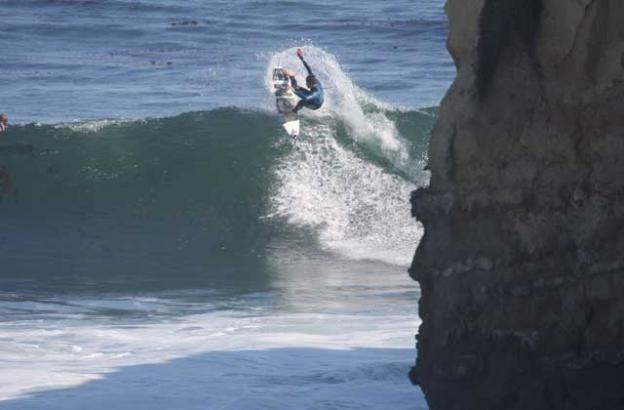 Burnsy has surfed The Lane since he was a grom. Mike Burns photo.