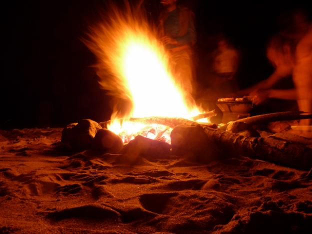 S'mores are good. S'mores on the beach are great. Photo by Petyo Ivanov.