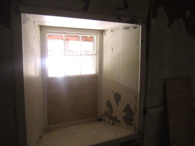 A window in the upstairs fandango room shows off the adobe's 28-inch-thick walls.