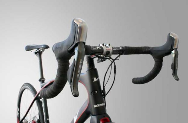 The head tube on both of Volagi's bikes is extended for better balance.