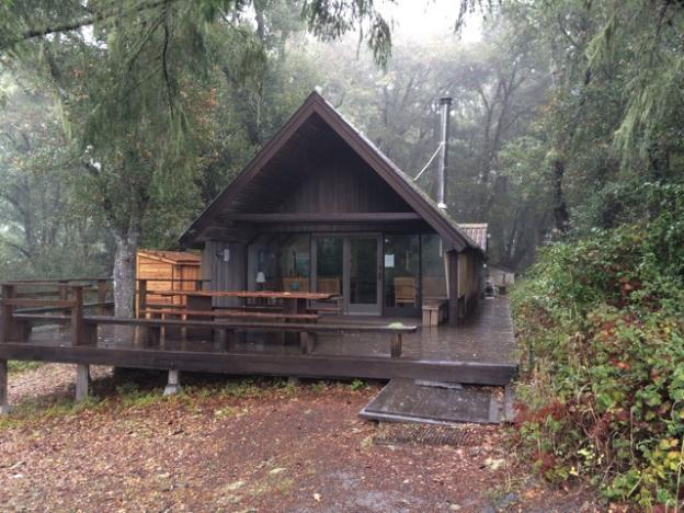 The Sierra Club's Hikers Hut, located on the ridge where Brook Trail begins, is available to rent. Cool, huh?