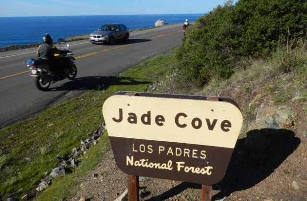 Across Highway 1 from the Jade Cove trailhead.