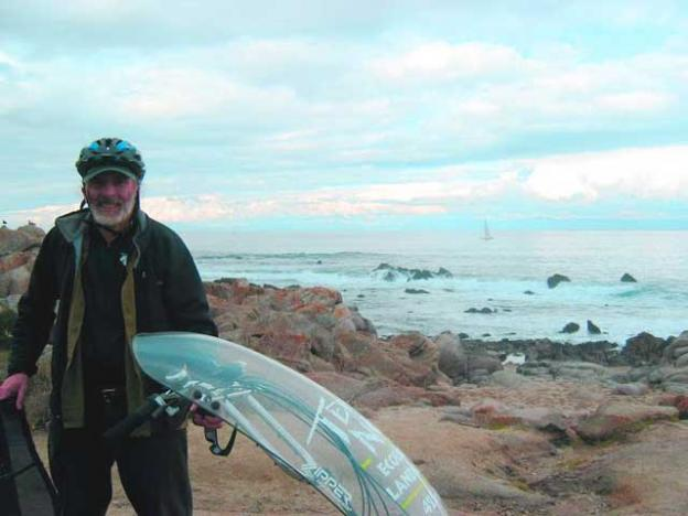 Ken Foster by his beloved Monterey Bay.