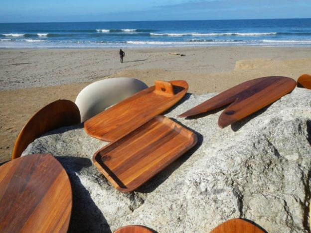 Marginal conditions but killer boards from Longship Designs at the Inaugural Wild Coast Whomp.