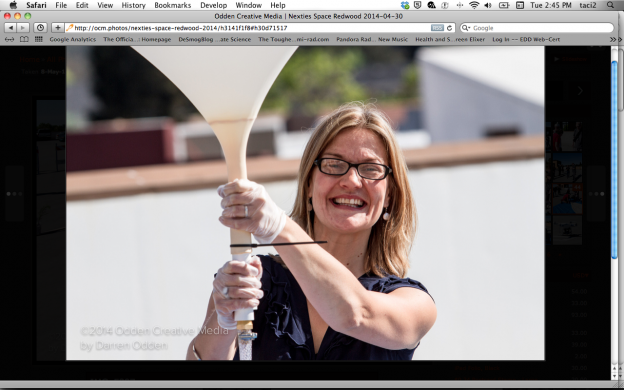 Missy Goldberg of Compass Rose Media gives gravity an assist..