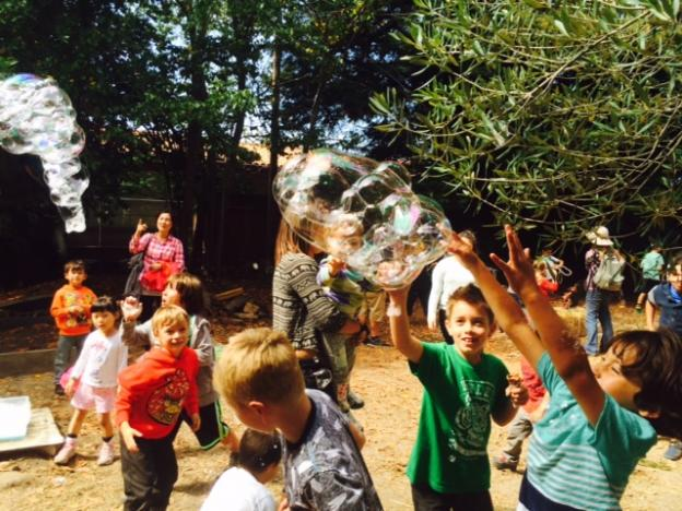 "Kids loved the bubble ""machine""—another Friends volunteer."