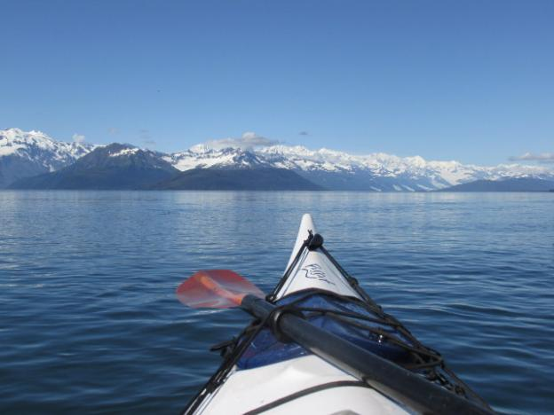 The Prince William Sound has breathtakingly beautiful views of huge mountains and tidal glaciers.