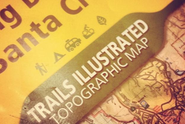 The gorgeous new National Geographic map to the Santa Cruz Mountains is hot this year.