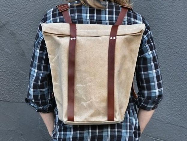 Alite's Pine to Pacific Rucksack in waxed canvas. Hipster sold separately.