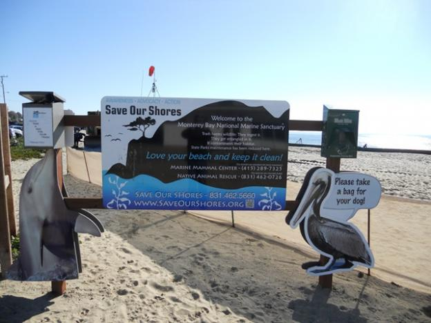 Expect more Beachkeepers signs like this one around Santa Cruz County. Photo courtesy Save Our Shores.