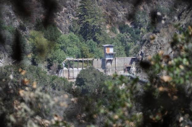 The removal of the San Clemente Dam as viewed from a trail below Cachagua Road on Aug. 7, 2015.