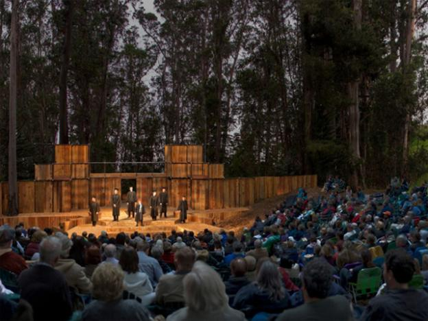 Artist's rendering of what the new Santa Cruz Shakespeare theater at DeLaveaga Park might look like.