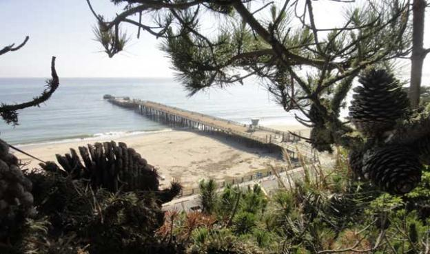 Seacliff State Beach's concrete ship, the Palo Alto. Photo by Garrett McAuliffe.