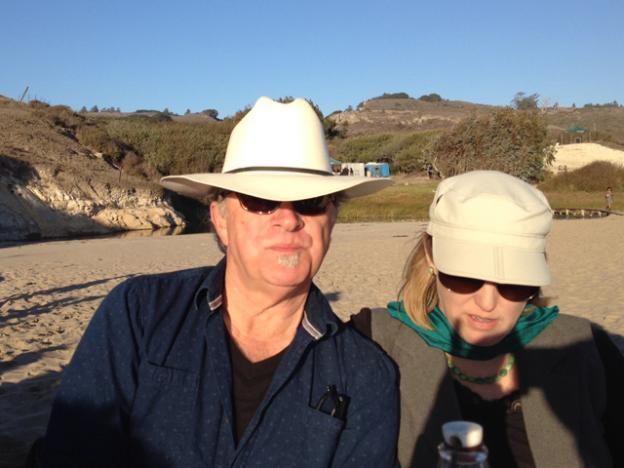 Steve in his Stetson and Jen in her Hollywood shades.