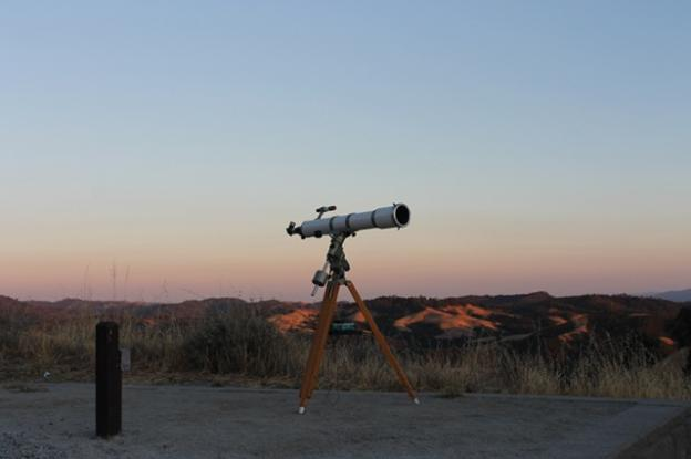 One of the Fremont Peak Observatory telescopes awaits curious eyes.