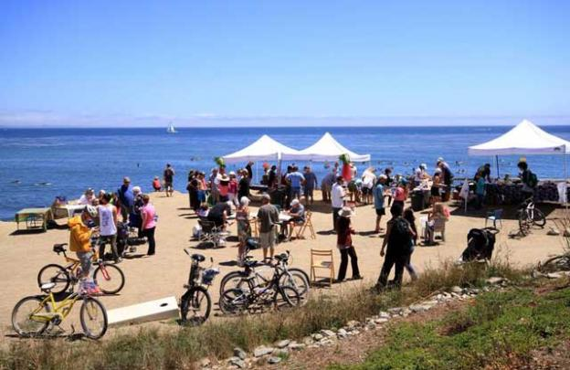 The Dirt Farm—a longtime Pleasure Point gathering spot—was a perfect locale for a community fundraising party.