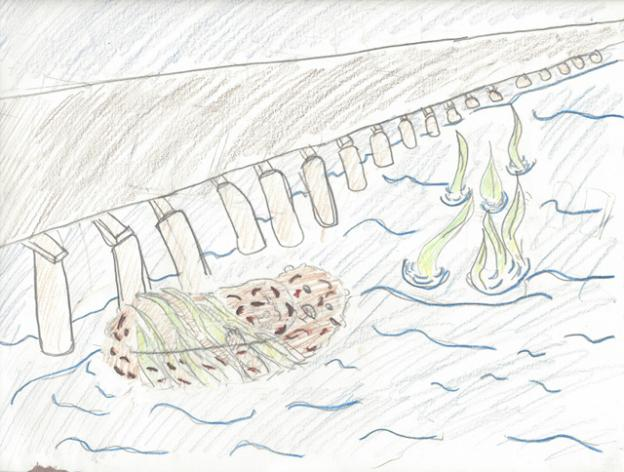 "Honorable mention: ""The Sea Otter by The Wharf"""