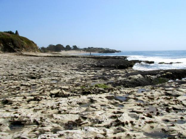 The view looking back towards Natural Bridges from the tide pools is deceptively empty of sea creatures.