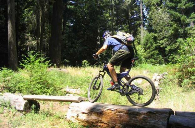 All of the super-popular single track mountain biking trails at UCSC are illegal.