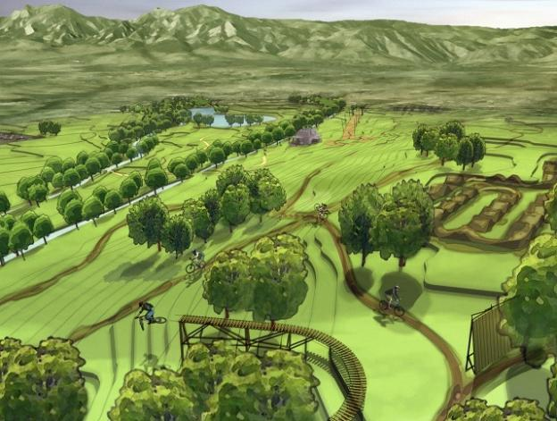 A rendering of Valmont Bike Park in Boulder. Alpine Bike Parks, the company that built Valmont, will construct the Mount Hermon bike park.