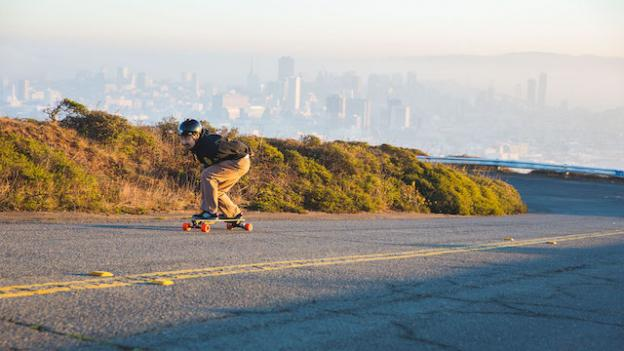 Yes, you can bomb uphill on a Boosted.