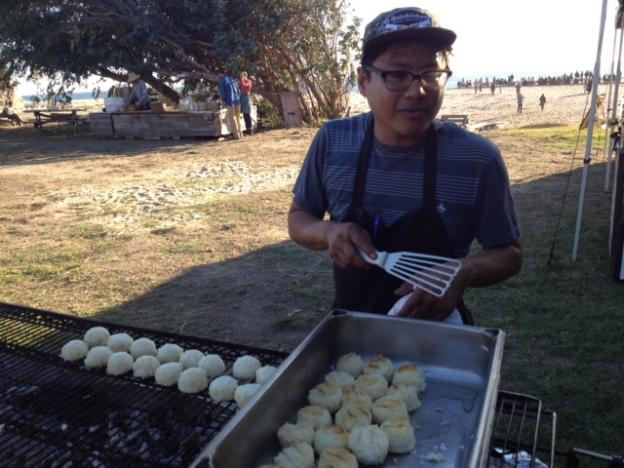 Chef Cartlo Esperanza, of Santa Cruz's Assembly, brought a mix of ambition and tradition to help create an unforgettable beach cookout.  Hilltromper photo.