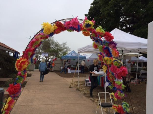 The flower gate greeted all who entered.