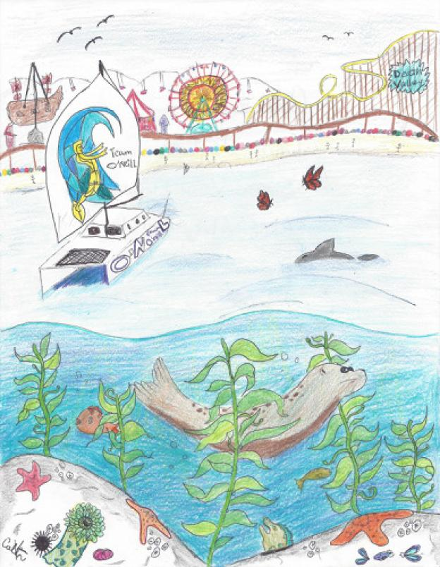 "Honorable mention: ""Marine Playground"" by Colin Keith, grade 5, Sierra Mar Elementary"