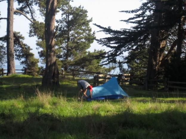 Another premium campsite. The extra $15 gets you the view. Hilltromper photo.