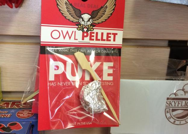 Relax. It's just 100% natural, preservative-free regurgitated owl dinner for your child's edification.
