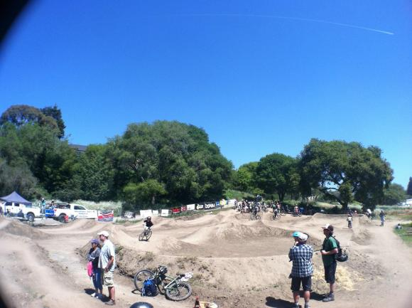 The Aptos pump track, built by Epicenter Cycling with volunteer labor, is almost always bustling. Photo courtesy Epicenter Cycling.