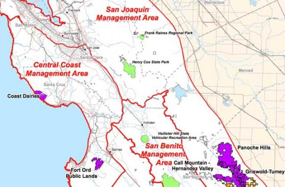 The BLM has designated the Coast Dairies property as a Special Recreation Management Area, the same designation the agency gave to Fort Ord and the Panoche Hills.