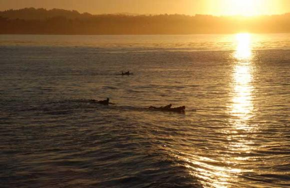 Morning came early on the first day back in the water after five dry years. Sally Smith-Weymouth photo.