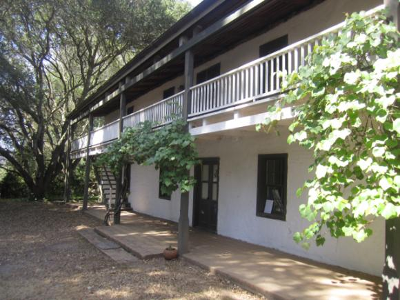 Santa Cruz County's only two-story adobe house.