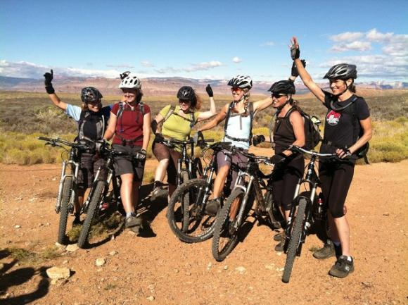 The Fat Tire Girls on a 2012 trip to St George, Utah. Photo courtesy Michele Lamelin.
