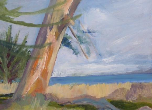 From 'Last Rays,' painted by Pegatha Hughes.