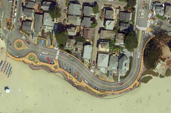 Rendering of the Twin Lakes State Beach improvements.