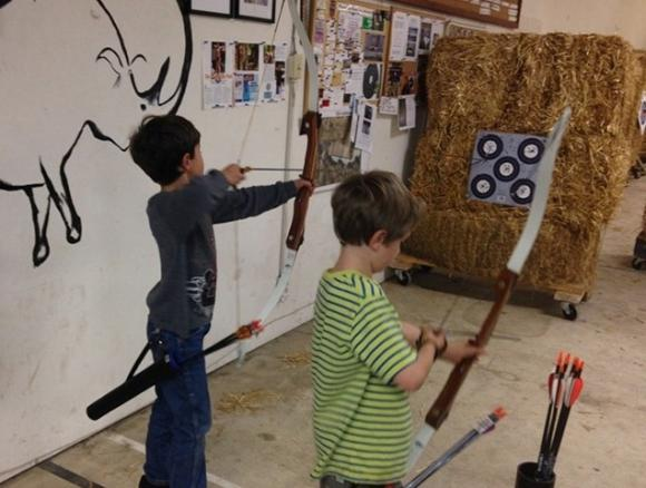 Intense focus is the name of the game at the archery range in DeLaveaga Park—even for 7-year-olds.