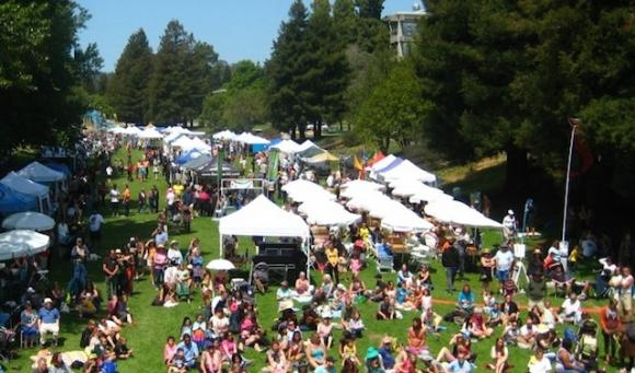 The weekend's unrivaled main event takes place Saturday at San Lorenzo Park. Photo from scearthday.org.