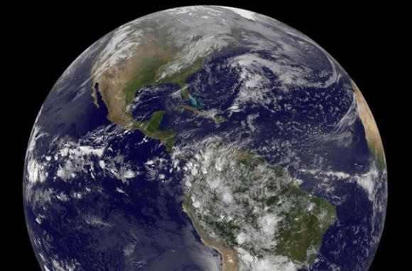 NASA released this new photo of the earth today.