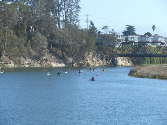 Groovin' on a Saturday afternoon San Lorenzo River Paddle with the Coastal Watershed Council. Photo by Melissa Foley.