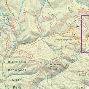 Trail Map- Big Basin