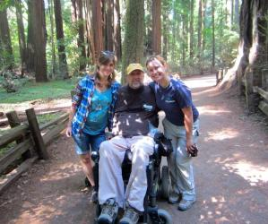 The ADA-compliant Redwood Grove Loop at Henry Cowell inspires awe and lots of grins. Photo courtesy Shared Adventures.