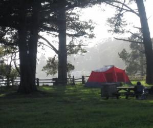 A premium campsite at New Brighton State Beach. Photo by Hilltromper.